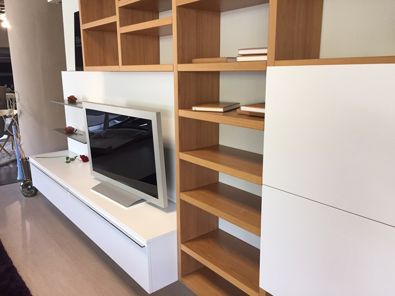 Misuraemme soggiorno crossing laccato opaco librerie design for Librerie design outlet
