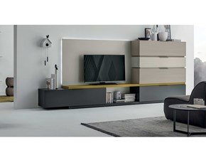 Mobile componibile Collection Tomasella in laminato materico in Offerta Outlet