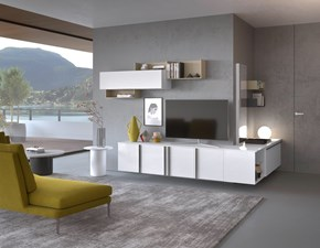 Mobile componibile Idea Mab in laminato lucido in Offerta Outlet