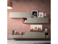 Mobile componibile in laminato materico stile design Light collection day Orme