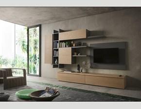 Mobile componibile in legno stile design Live Napol