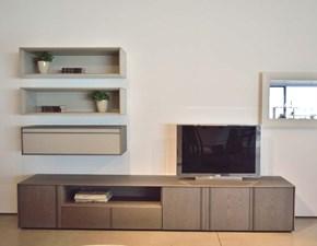 Mobile componibile in stile design Molteni & c in legno Offerta Outlet