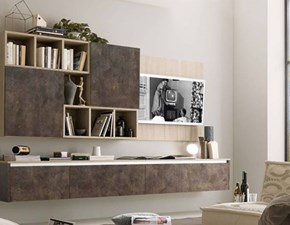 Mobile componibile in stile design S75 in laminato opaco Offerta Outlet