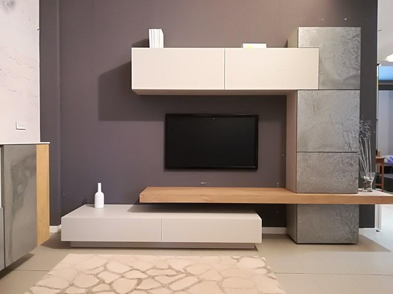 mobile componibile in stile moderno di mobilgam in legno
