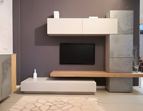 Mobile componibile in stile moderno di Mobilgam in legno Offerta Outlet