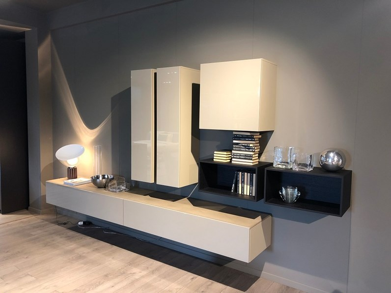 Mobile componibile in stile moderno Lema in laccato lucido Offerta Outlet
