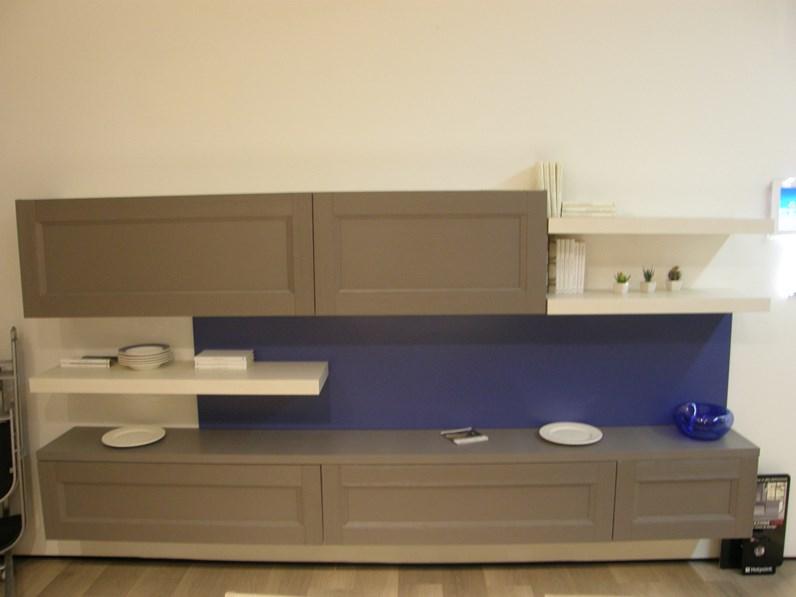 Mobile componibile in stile moderno Lube cucine in legno Offerta Outlet