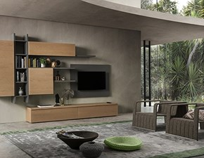 Mobile componibile in stile moderno Napol in legno Offerta Outlet