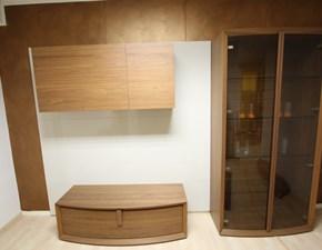 Mobile componibile in stile moderno Sangiacomo  laccato lucido con Boiserie Offerta Outlet