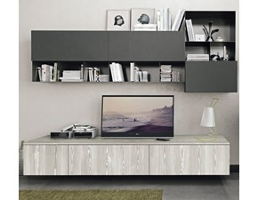 Mobile componibile Living 01 Lube cucine in melamminico a prezzo Outlet