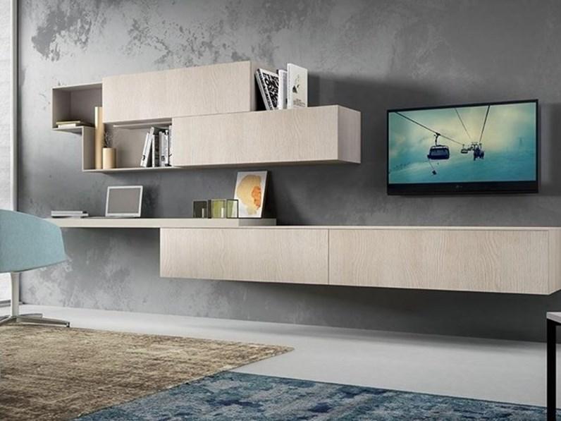 Mobile componibile living scrivania spagnol salotti in for Scrivania design outlet