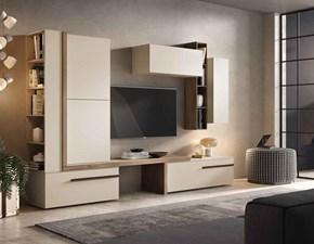 Mobile componibile Mobile-living con libreria laterale scontato del 30% Gierre mobili in stile moderno a prezzo ribassato