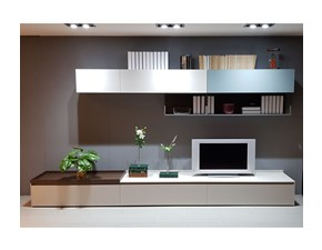 Mobile componibile Novamobili in laccato opaco Living system in Offerta Outlet