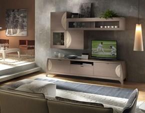 Mobile componibile Soggiorno glamour  Artigianale in legno in Offerta Outlet