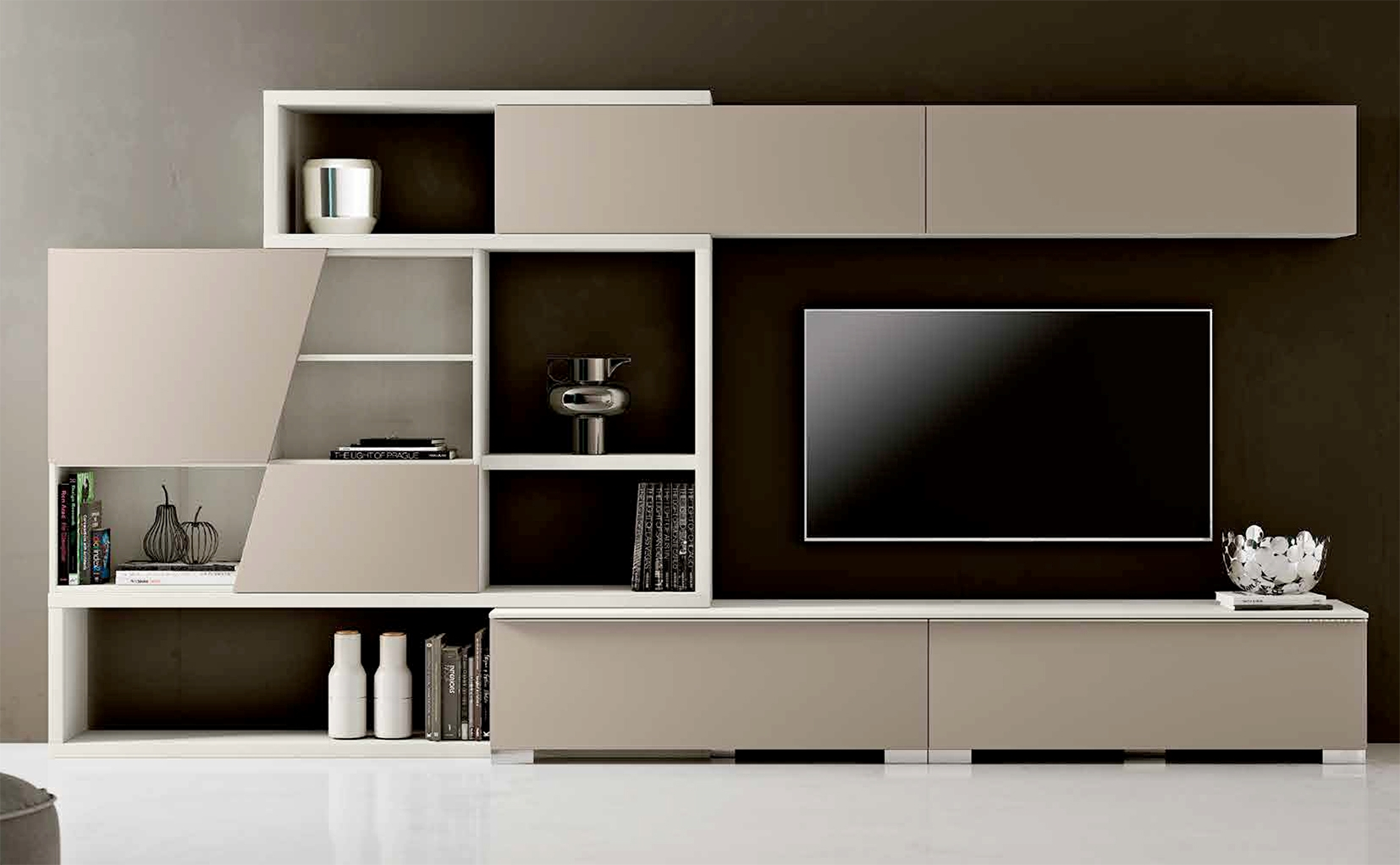 Mobile da soggiorno con coppia di cassettoni nuovo a for Mobile da soggiorno moderno