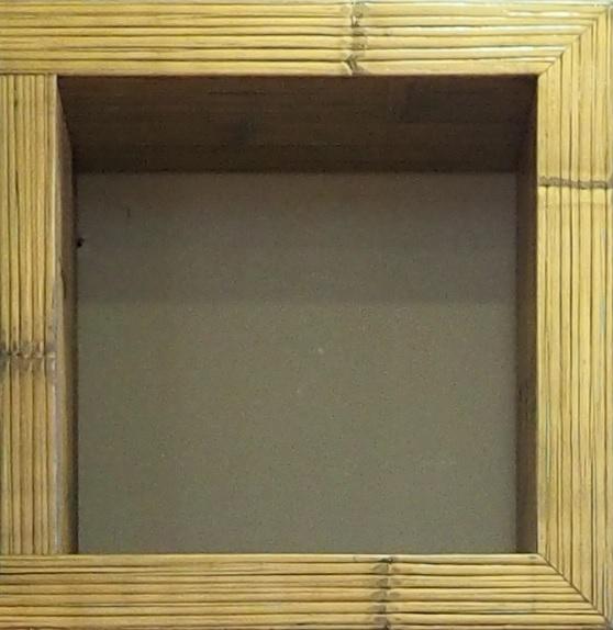mobile etnico parete soggiorno moderno sospeso in legno e bambu ... - Soggiorno Moderno Sospeso 2