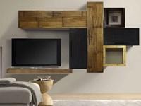 mobile etnico parete soggiorno moderno sospeso in legno e bambu ...