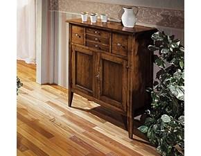 Mobile ingresso Credenzina con piede alto in legno massello scontata del 40% Artigianale in legno in Offerta Outlet