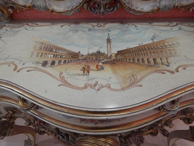 Mobile ingresso in stile classico artigianale in laccato for Fornasari arredamenti