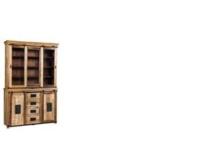 Mobile ingresso Nuovi mondi cucine in legno Vetrina doppio corpo industrial in Offerta Outlet