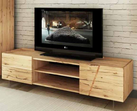 Mobile moderno porta TV legno massello rovere scontato -45 ...