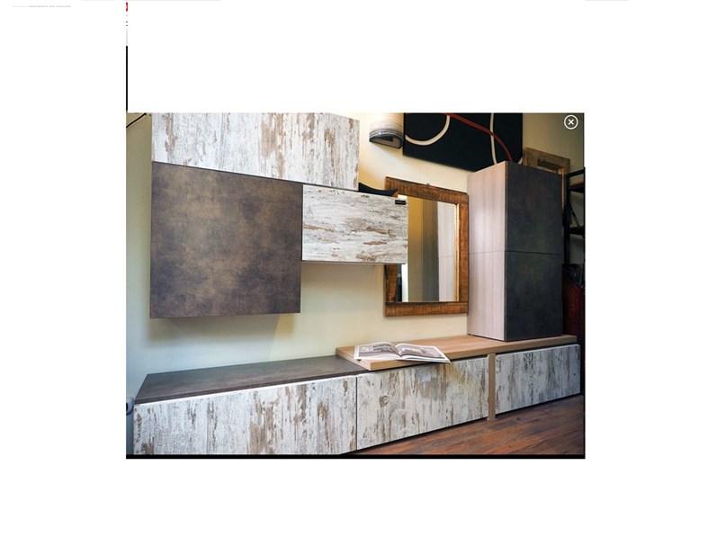 mobile parete componibile design minimal moderno nelle finiture ...
