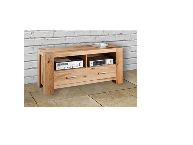 Mobile porta TV moderno in legno massello di rovere sconto -44 ...