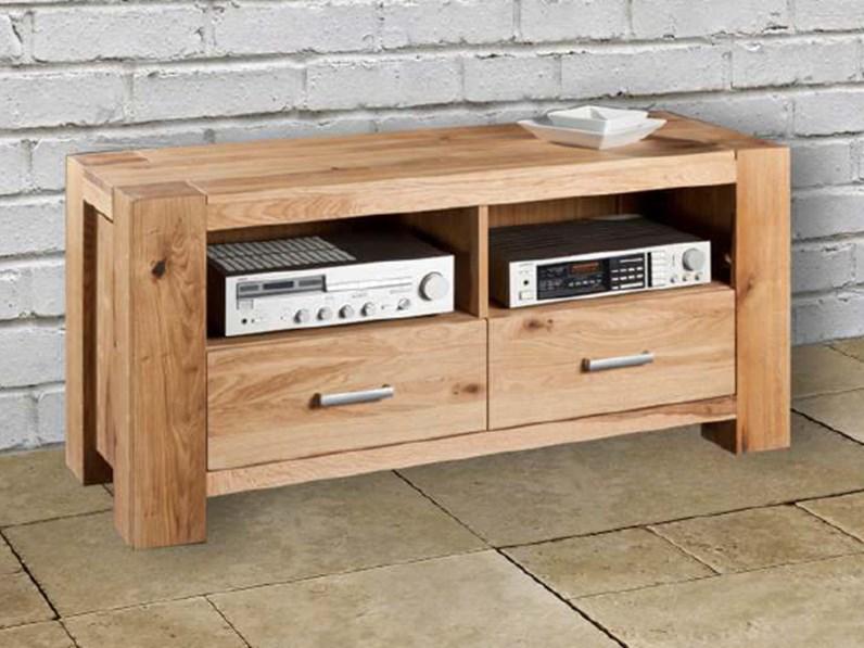 Mobile porta tv moderno in legno massello di rovere sconto 44 soggiorni a prezzi scontati - Mobile porta tv in legno ...