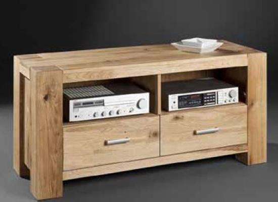 Finest mobile porta tv moderno in legno massello di rovere - Mobiletto porta telefono stile moderno ...