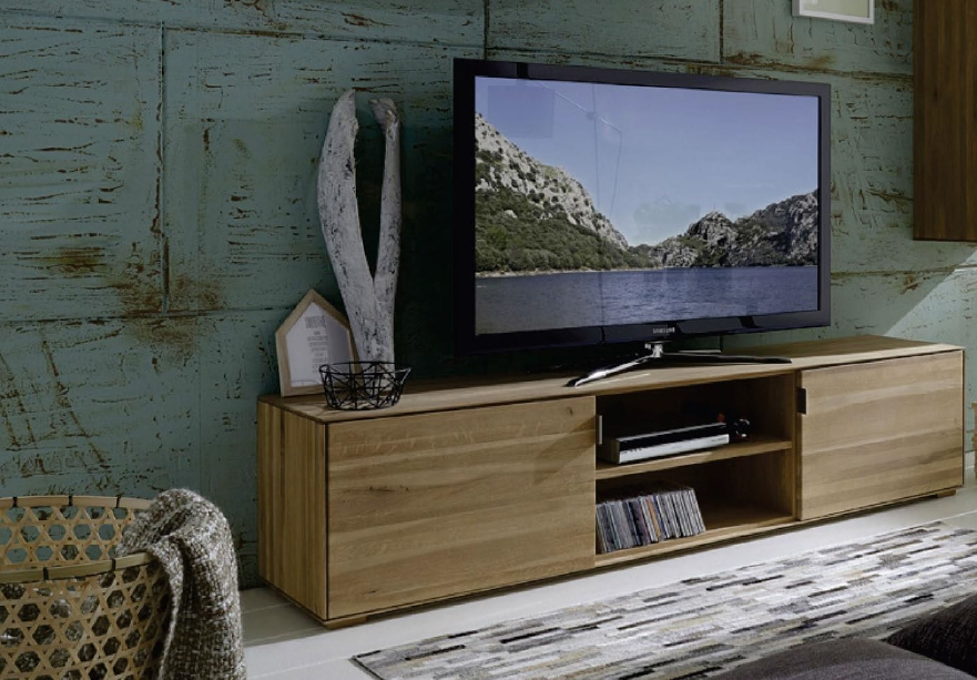 mobile porta tv in legno massello sconto -41% - soggiorni a prezzi ... - Soggiorno Noce Chiaro 2
