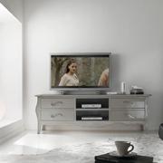 Mobile in legno porta tv con cassettoni in stile classico