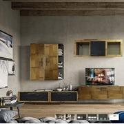 mobile soggiorno in legno e crash bambu bortoli offerta nuovimondi outlet