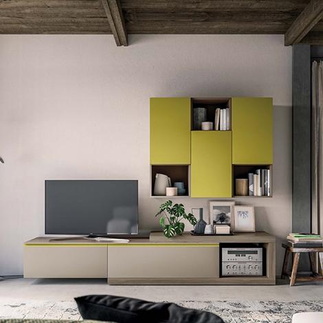 Mobile soggiorno living moderno laccato opaco soggiorni - Mobile soggiorno moderno ...