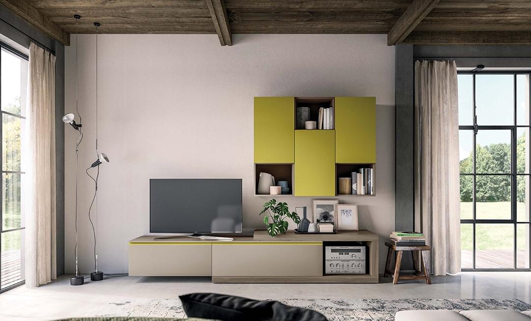 mobile soggiorno living moderno laccato opaco soggiorni On mobile living moderno