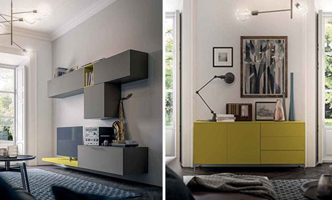 Mobile soggiorno living moderno Mottes Mobili - Soggiorni a prezzi scontati