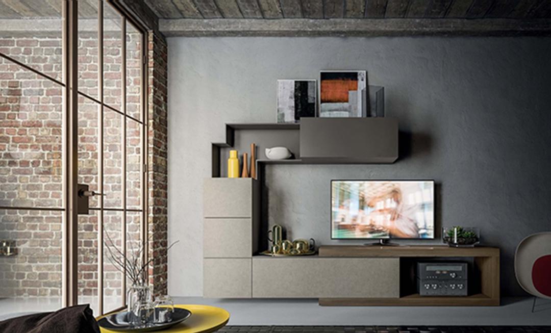Mobile soggiorno living moderno scontato del 40 for Soggiorno living moderno
