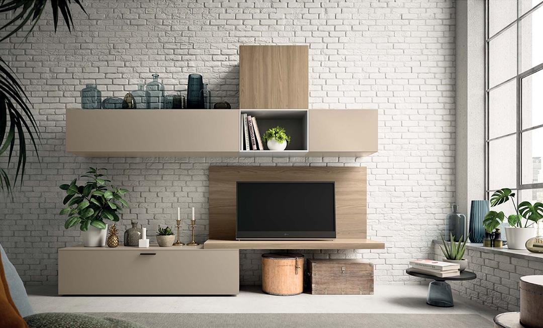Mobile soggiorno moderno con vano porta televisione ...