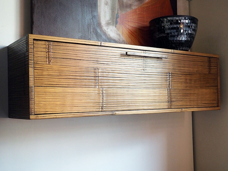 Mobile soggiorno portatv moderno etnico in legnoe crash bambu ...