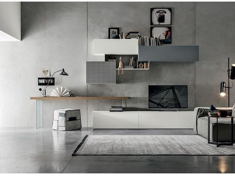 Mobile soggiorno tomasella con piano scrittoio for Scrivania soggiorno