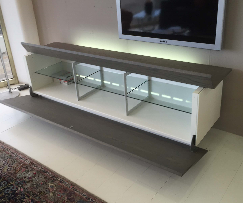 Mobile tv acerbis ludwing in legno rovere grigio - Mobile rovere grigio ...