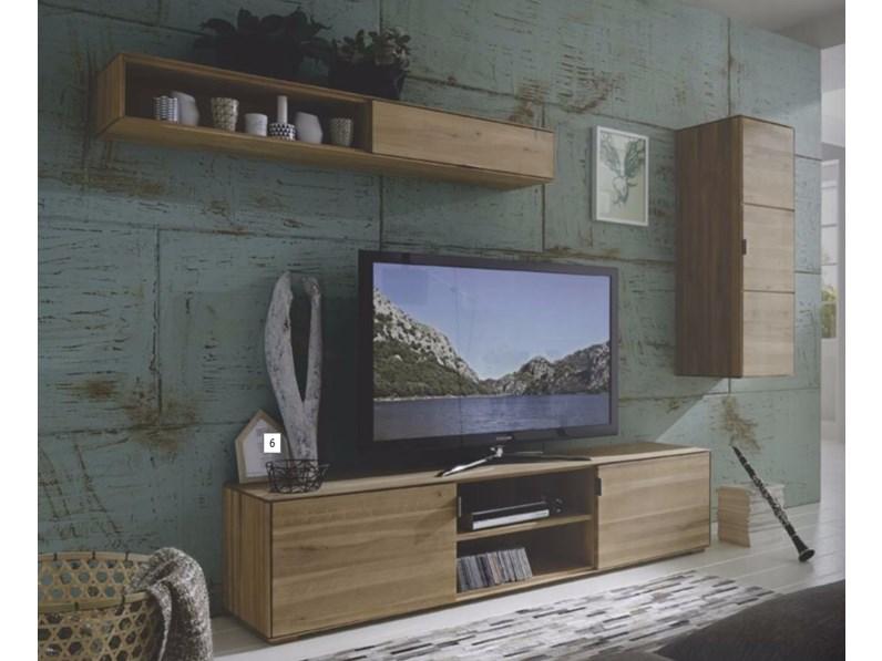 Mobile soggiorno Wood in legno massello sconto -50%