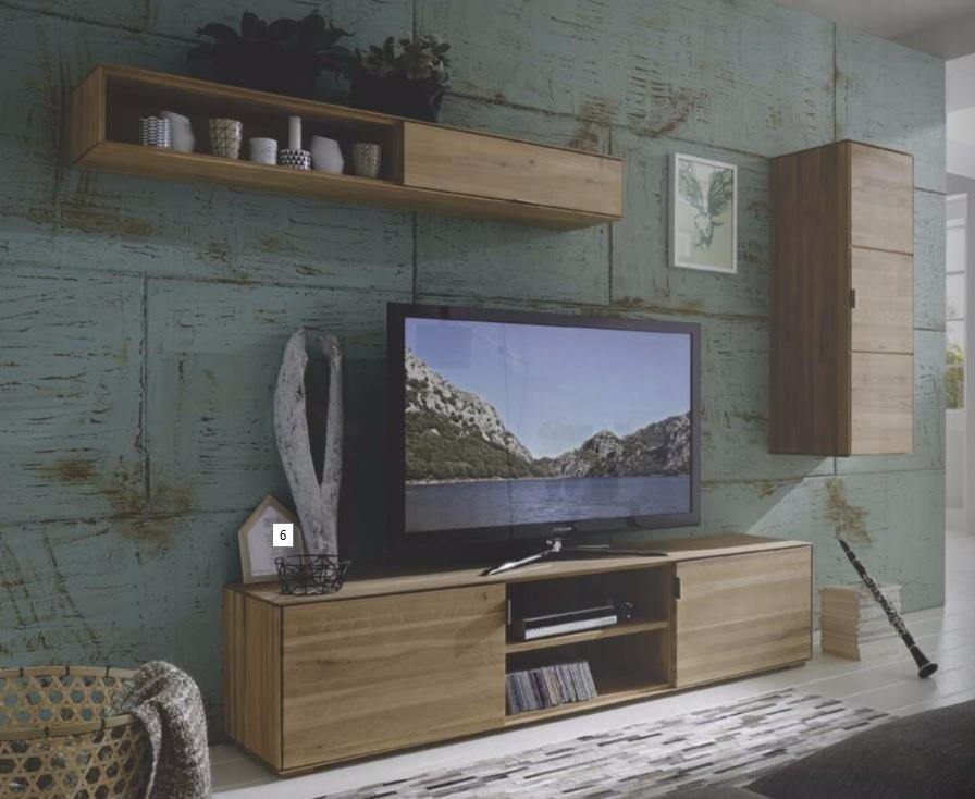 Mobile soggiorno wood in legno massello sconto 50 - Soggiorno legno massello ...