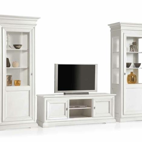 Mobili per soggiorno in legno pattinati bianchi - Soggiorni a prezzi scontati