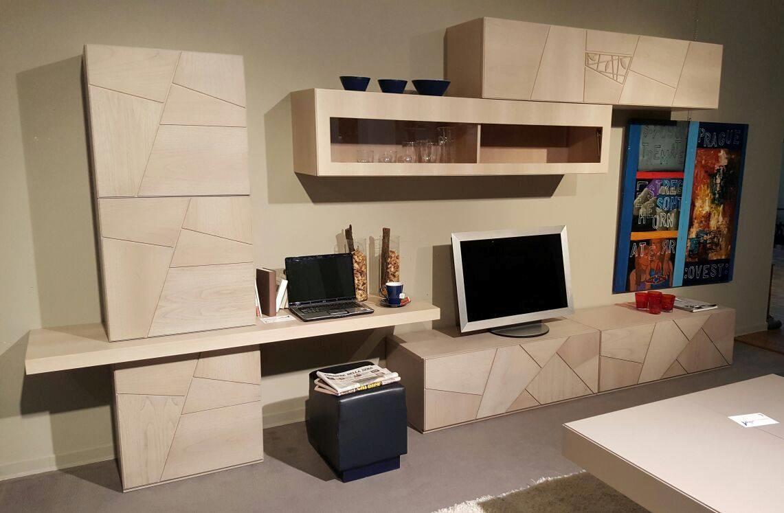 Modo10 soggiorno decor noce natura pareti attrezzate for Modo10 mobili prezzi
