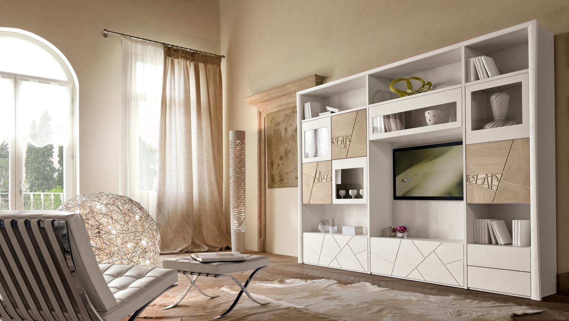 Modo10 soggiorno decor soggiorni a prezzi scontati for Mobili stile contemporaneo moderno