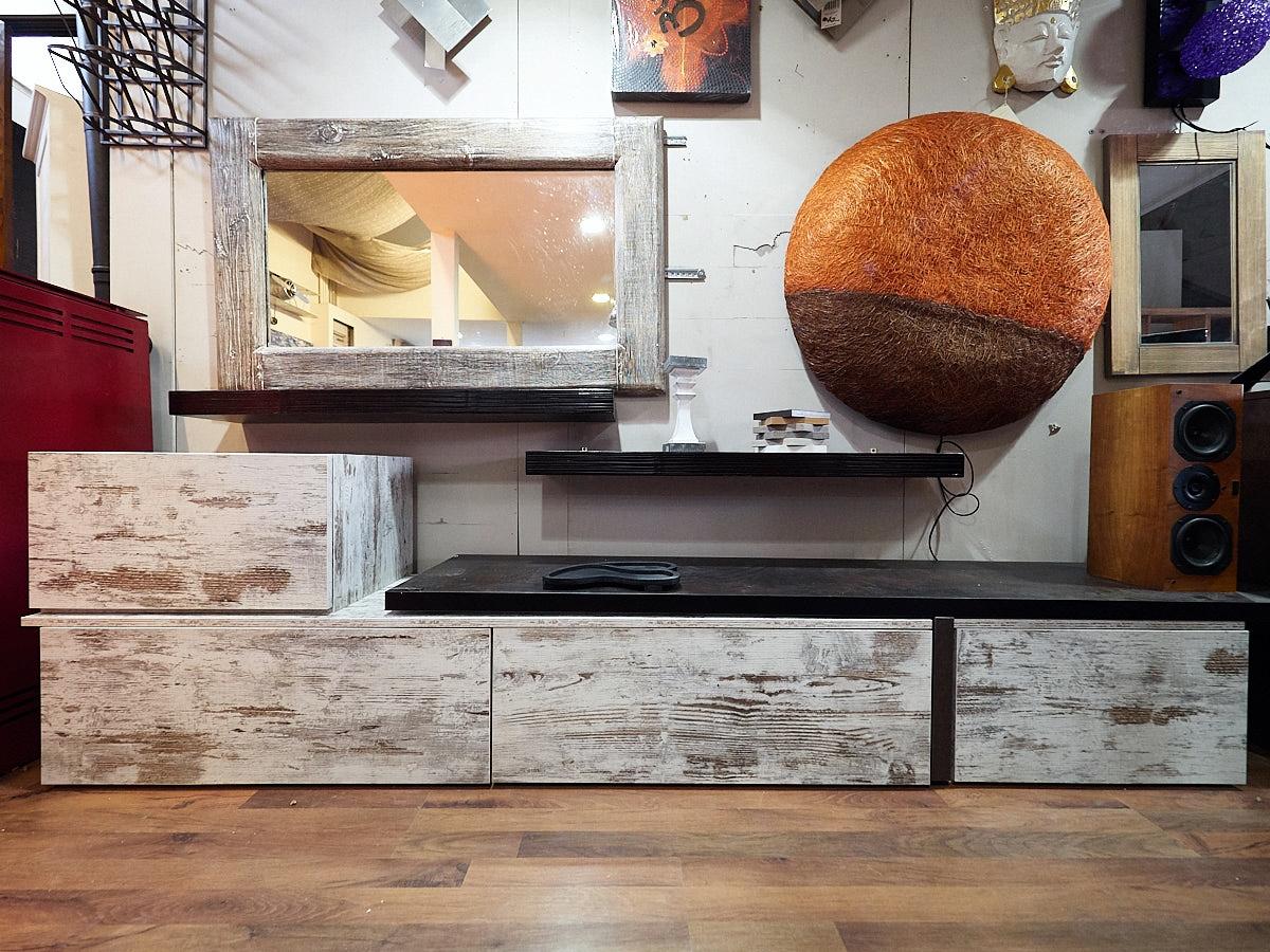 Nuovi mondi cucine soggiorno soggiorno minimal vintage con for Parete soggiorno minimal