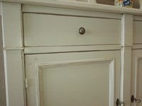 Offer for a Shabby chic white italian sideboard made of hardwood