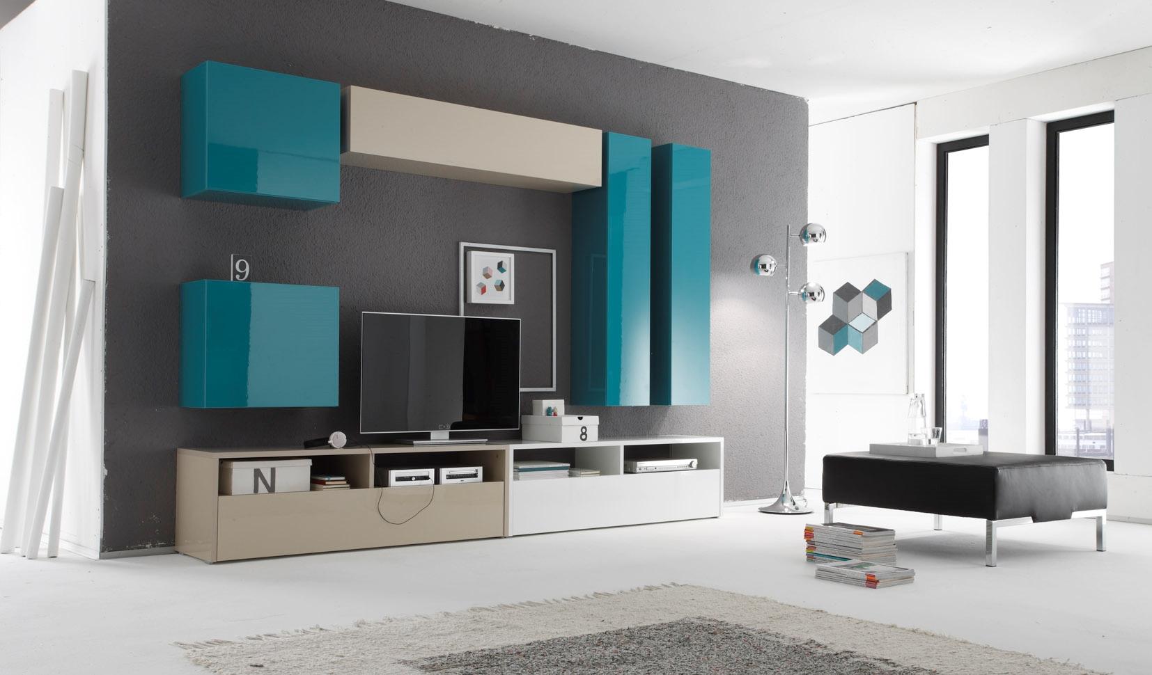 Libreria Pensile Per Soggiorno Design Moderno A Cubo Pictures Pictures ...