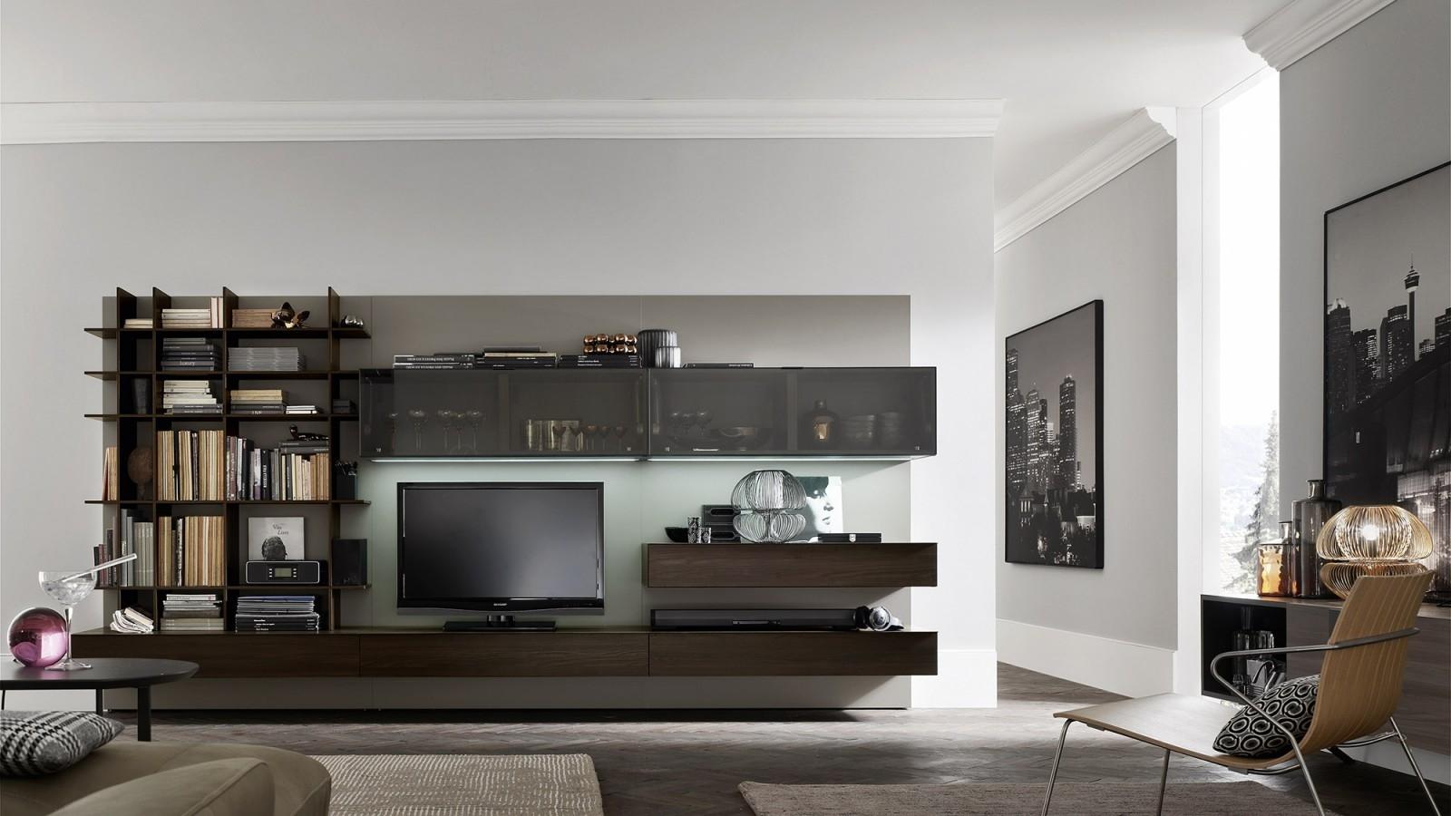 Orme soggiorno composizione soggiorno componibili for Soggiorni moderni in pietra