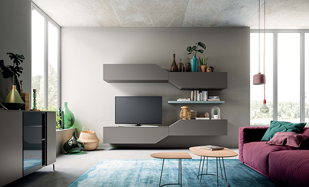 Orme soggiorno orme laminato materico porta tv moderno for Soggiorni living moderni